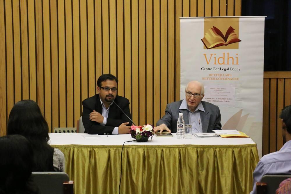 'Great Cases' Talk by Mr. TR Andhyarujina on Kesavananda Bharati v. State of Kerala 1