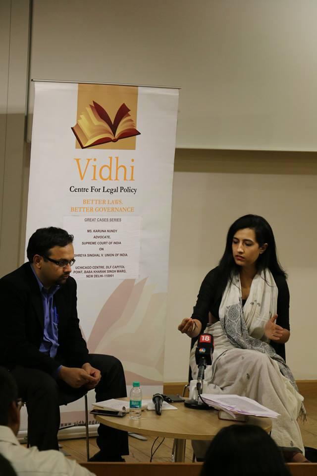 'Great Cases' Talk by Ms. Karuna Nundy on Shreya Singhal v. UOI 3