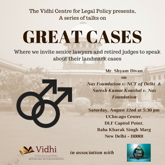 Great Cases: Talk by Mr Shyam Divan on the Naz Foundation cases 1