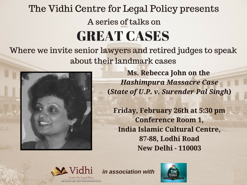 Event: 'Great Cases' talk by Ms. Rebecca John 1