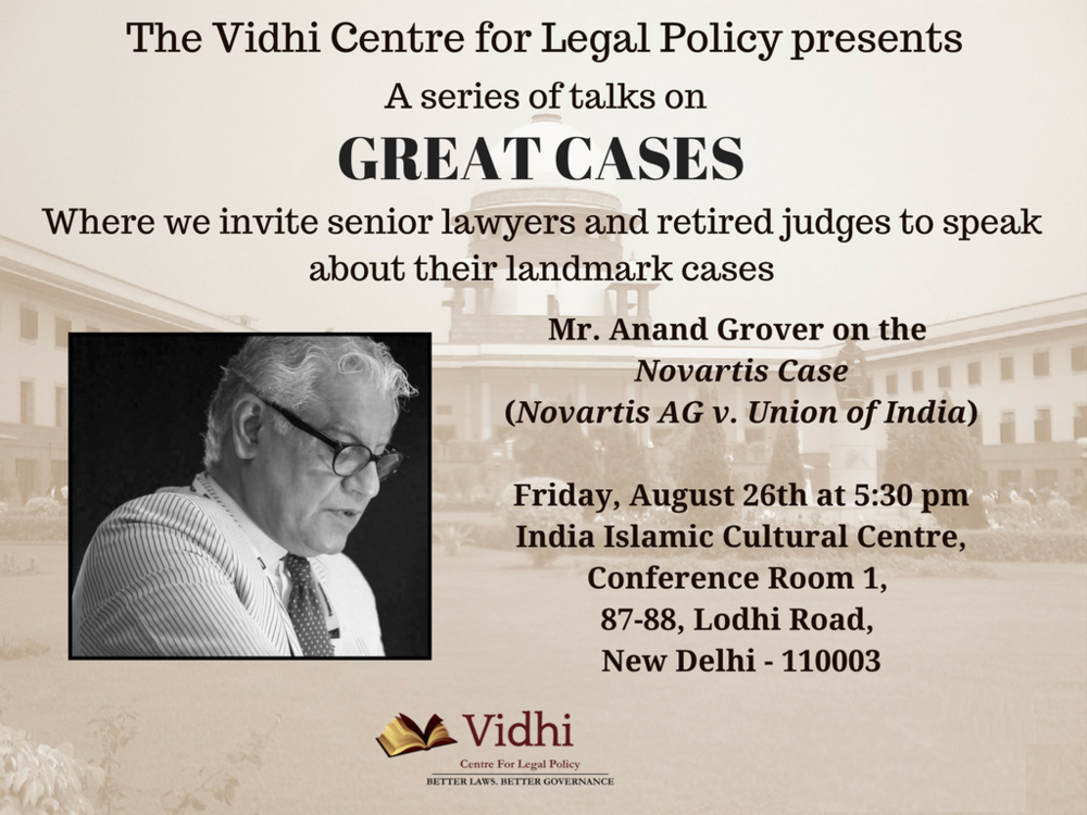 Event: 'Great Cases' talk by Mr. Anand Grover 1