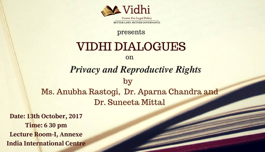 The Vidhi Dialogues: In conversation with Ms. Anubha Rastogi, Dr. Aparna Chandra and Dr. Suneeta Mittal 1