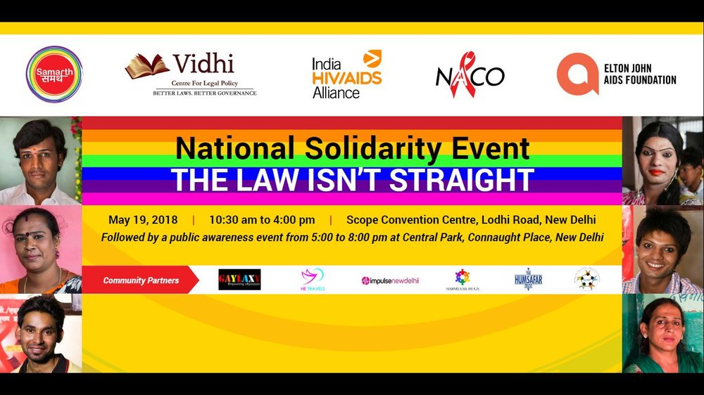 National Solidarity Event- The Law Isn't Straight | 19 May 2018, Scope Complex and Central Park (New Delhi) 1