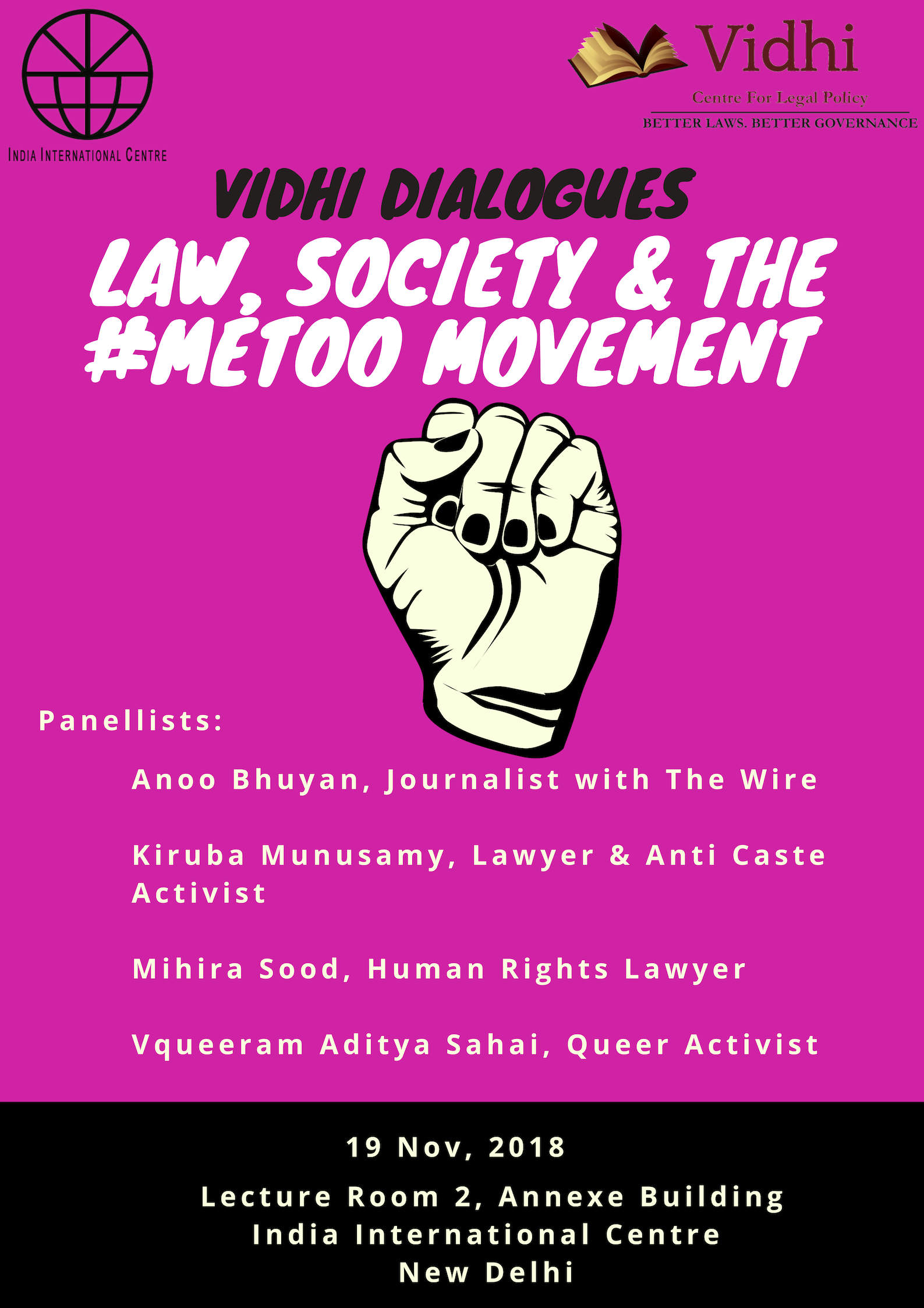 The Vidhi Dialogues: Law Society and the #MeToo Movement 1