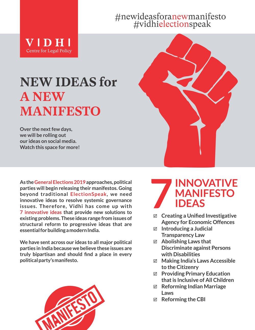 Vidhi launches #newideasforanewmanifesto campaign 1