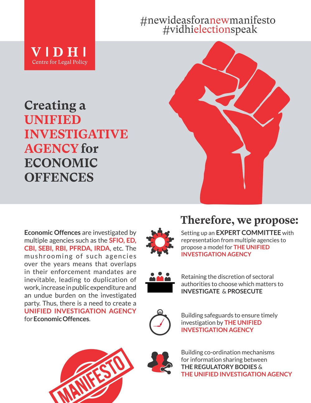 Creating a Unified Investigative Agency for Economic Offences 1