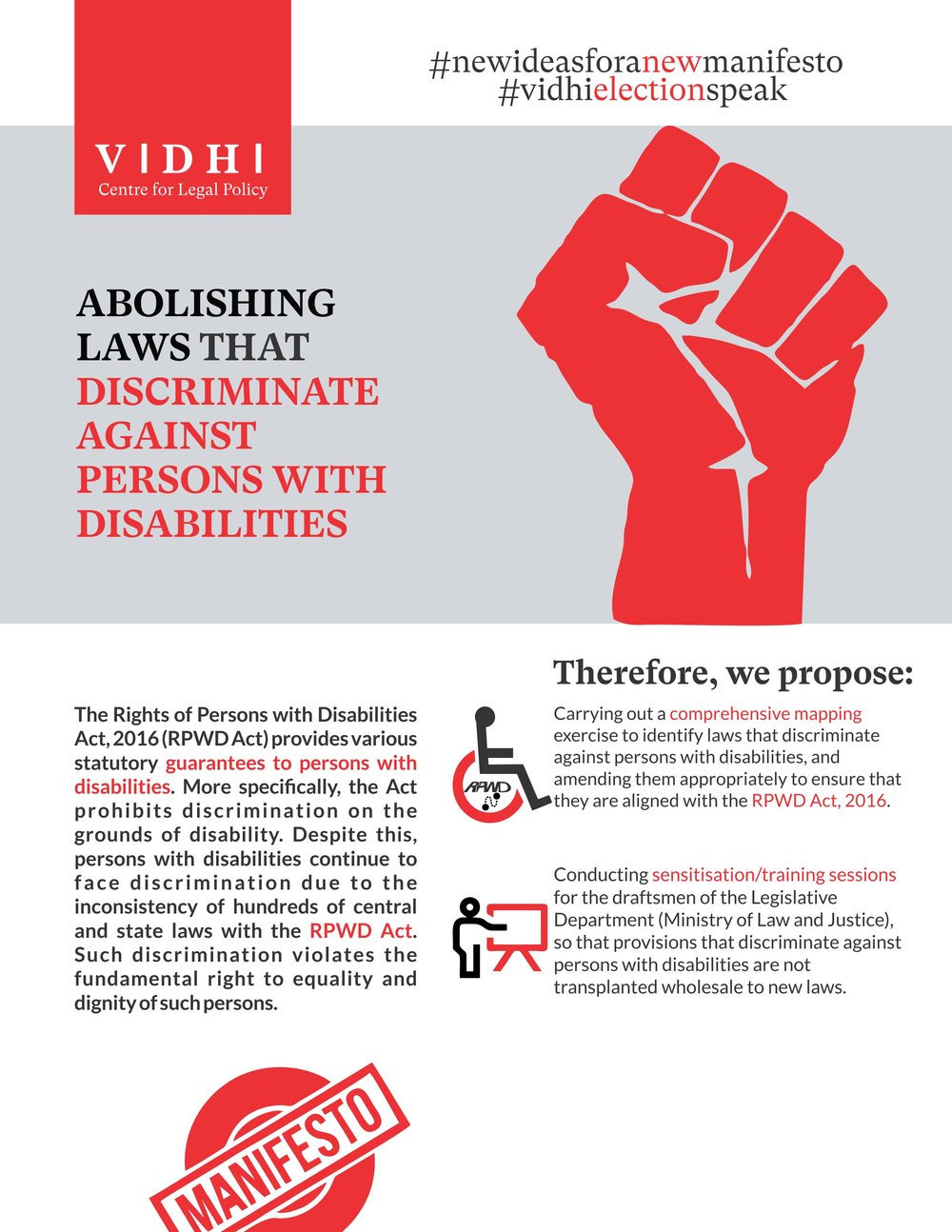 Abolishing Laws that Discriminate against Persons with Disabilities 1