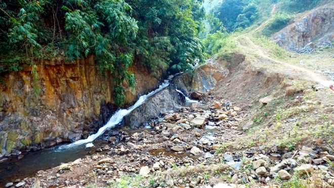 Flow of this river is destroyed due to the mining activities in Karbi Anglong hills.