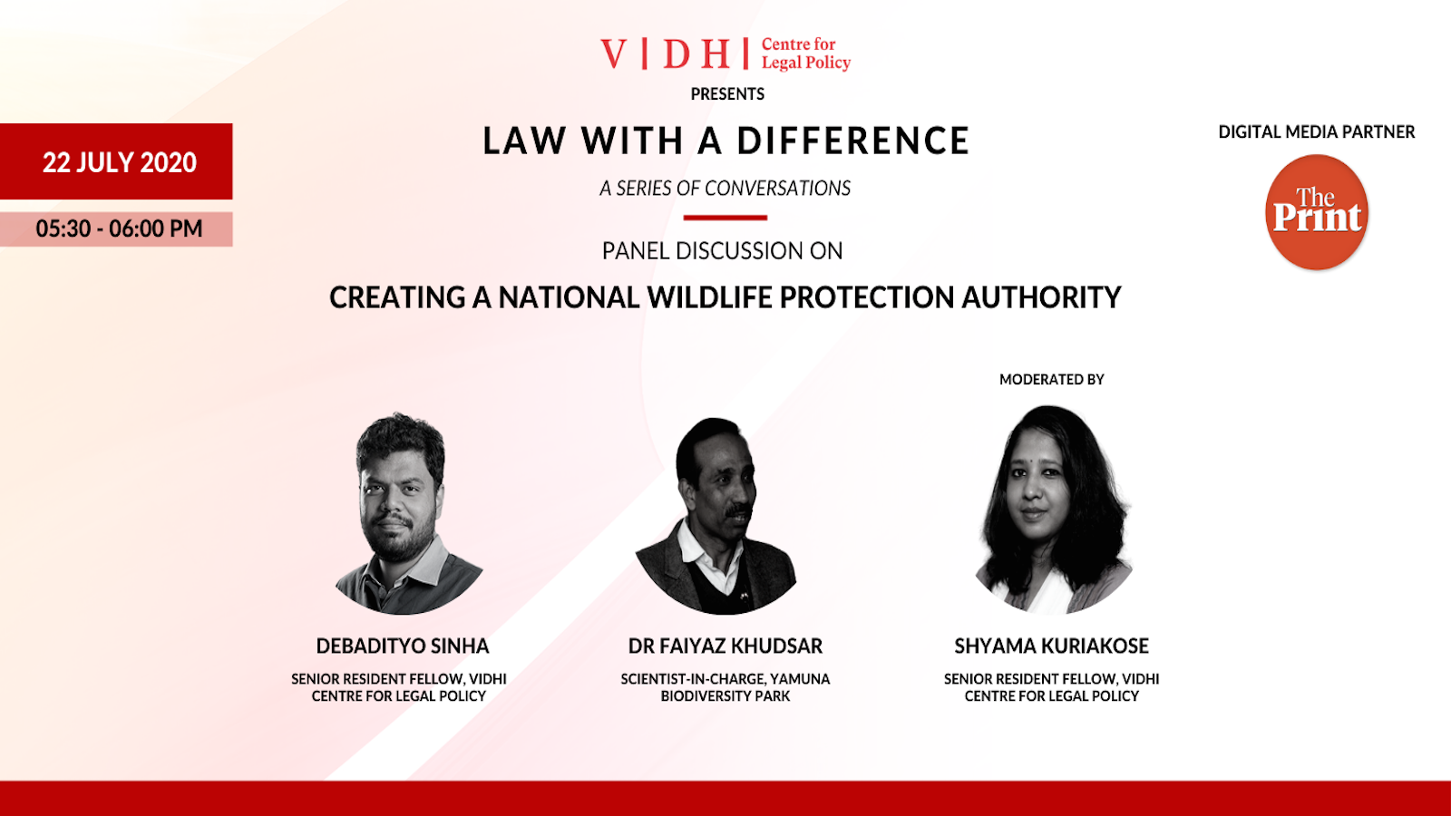Panel discussion on 'Creating a National Wildlife Protection Authority'