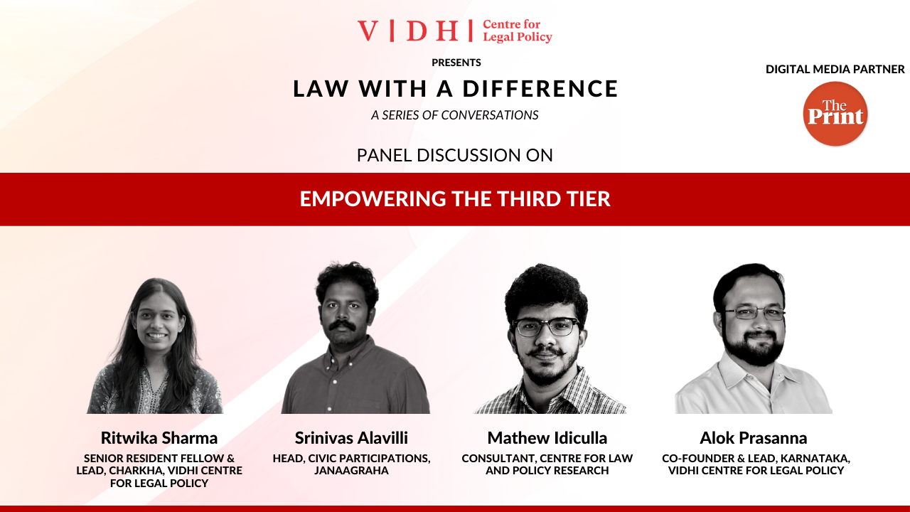 Panel Discussion on 'Empowering the Third Tier'