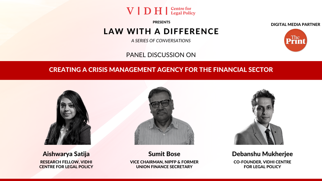 Panel Discussion on 'Creating a Crisis Management Agency for the Financial Sector'