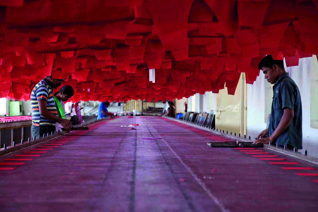 Workers in the textile industry in India
